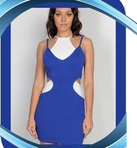 CLOSING Small  New White and BlueMini Dress